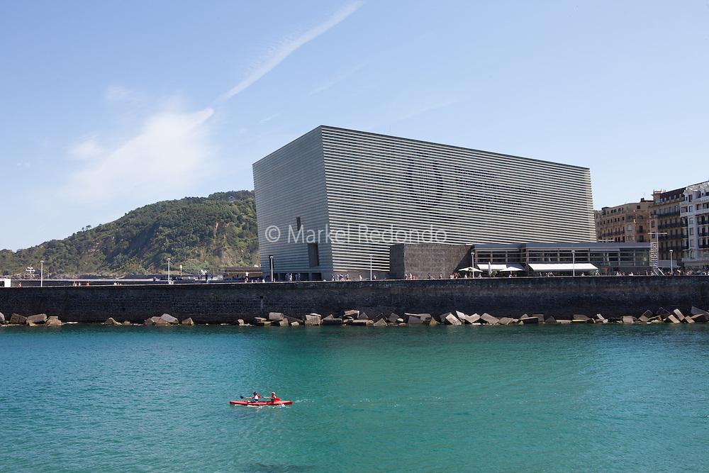 The Kursaal congress center in San Sebastian, Spain.