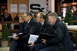 Jury, Meurrens Inge, Boe Herman, De Smet Stefaan, Van den Broeck Herman<br /> Hengstenkeuring BWP - Lier 2018<br /> © Hippo Foto - Dirk Caremans<br /> 18/01/2018