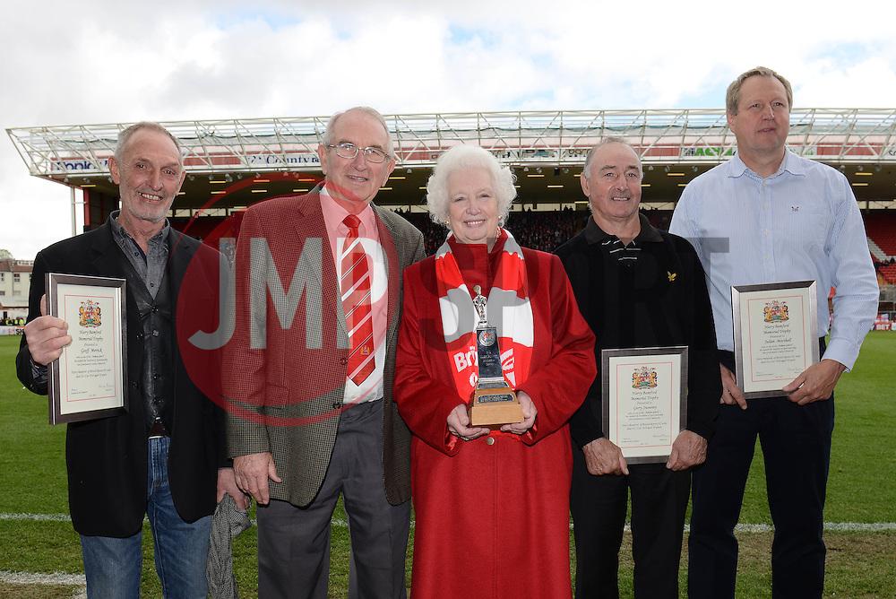 Harry Bamford presentation - Photo mandatory by-line: Dougie Allward/JMP - Mobile: 07966 386802 - 03/05/2015 - SPORT - Football - Bristol - Ashton Gate - Bristol City v Walsall - Sky Bet League One