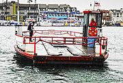 Balboa Ferry at Newport Beach Harbor in the Rain