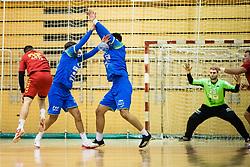 Bombac Dejan of Slovenia during friendly handball match between national teams Slovenia and Montenegro on 4th Januar, 2020, Trbovlje, Slovenia. Photo By Grega Valancic / Sportida
