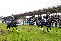 FRENCH Piggy (GBR), COOLEY LANCER, PRICE Tim (NZL), HAPPY BOY<br /> Le Lion d'Angers - Eventing World Breeding Championship 2019<br /> Siegerehrung<br /> Impressionen am Rande<br /> Teilprüfung Springen 7 jährige<br /> 20. Oktober 2019<br /> © www.sportfotos-lafrentz.de/Stefan Lafrentz