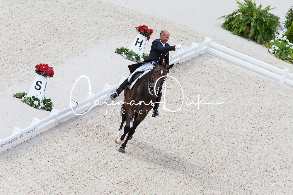 Steffen Peters, (USA), Legolas 92 - Grand Prix Team Competition Dressage - Alltech FEI World Equestrian Games&trade; 2014 - Normandy, France.<br /> &copy; Hippo Foto Team - Leanjo de Koster<br /> 25/06/14