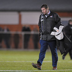TELFORD COPYRIGHT MIKE SHERIDAN A dejected Huw Griffiths during the Cymru Premier fixture between Cefn Druids and Newtown AFC at the Rock on Friday, October 11, 2019<br /> <br /> Picture credit: Mike Sheridan/Ultrapress<br /> <br /> MS201920-024