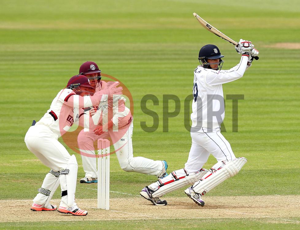 Hampshire's Danny Briggs bats - Photo mandatory by-line: Robbie Stephenson/JMP - Mobile: 07966 386802 - 23/06/2015 - SPORT - Cricket - Southampton - The Ageas Bowl - Hampshire v Somerset - County Championship Division One