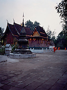 Early morning at Wat Xieng Thong.