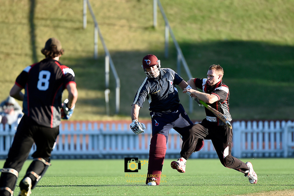Action from the Premier Cricket Twenty20 Final - Taita v Eastern Suburbs at Basin Reserve, Wellington, New Zealand on Wednesday 28 January 2015. <br /> Photo by Masanori Udagawa.   <br />  www.photowellington.photoshelter.com.