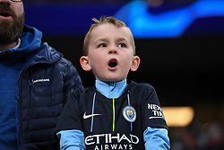 09.04.2019, White Hart Lane, London, ENG, UEFA CL, Tottenham Hotspur vs Manchester City, Viertelfinale, Hinspiel, im Bild A young Manchester City fan // A young Manchester City fan during the UEFA Champions League quarterfinals, 1st leg match between Tottenham Hotspur and Manchester City at the White Hart Lane in London, England on 2019/04/09. EXPA Pictures © 2019, PhotoCredit: EXPA/ Focus Images/ Martyn Haworth<br /> <br /> *****ATTENTION - for AUT, GER, FRA, ITA, SUI, POL, CRO, SLO only*****