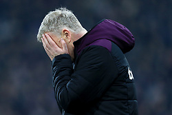 13th January 2018 - Premier League - Huddersfield Town v West Ham United - West Ham manager David Moyes looks dejected - Photo: Simon Stacpoole / Offside.