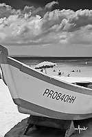 Wooden fisherman boat on beach