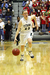 18 March 2011: Olivia Lett during an NCAA Womens basketball game between the Washington University Bears and the Illinois Wesleyan Titans at Shirk Center in Bloomington Illinois.