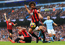 Nathan Ake of Bournemouth clears the ball - Mandatory by-line: Matt McNulty/JMP - 23/12/2017 - FOOTBALL - Etihad Stadium - Manchester, England - Manchester City v Bournemouth - Premier League