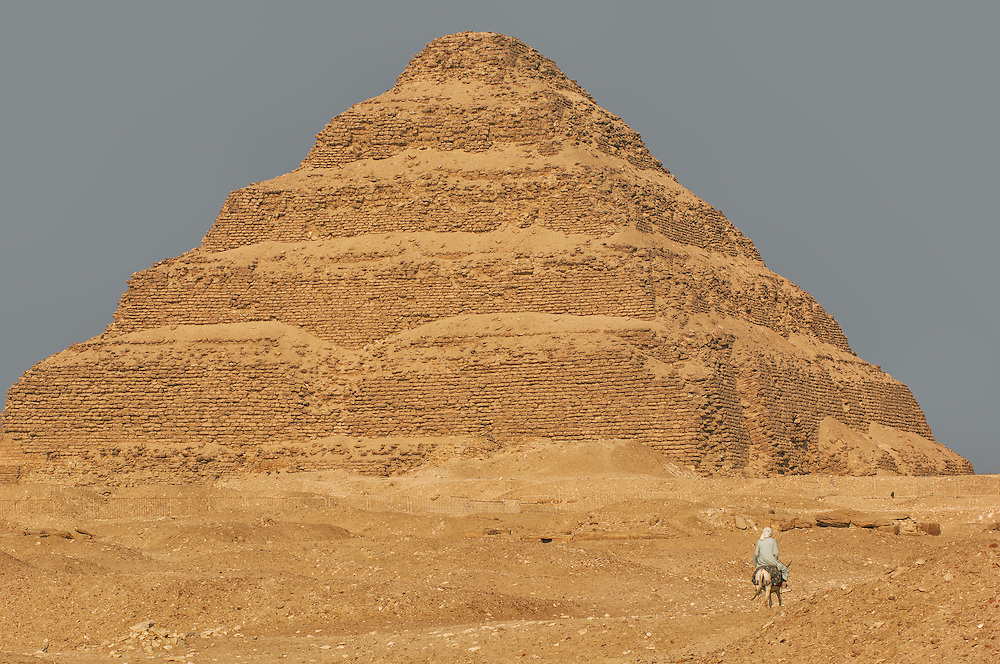 Pyramid at Sakkara archaeological sites, Cairo, Egypt
