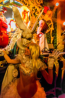 Carnival ball at the Venice casino during the Venice Carnival (Carnevale di Venezia), Venice, Italy.