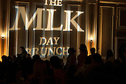 Guests at the 15th Annual Martin Luther King Jr. Day Brunch get settled in Baker University Center Ballroom on Monday, January 19. The Brunch was hosted by Alpha Phi Alpha fraternity and commenced following a Silent March in honor of Dr. King.