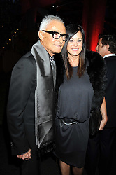 VIDAL SASSOON and his wife RONNIE at the annual Serpentine Gallery Summer Party in Kensington Gardens, London on 9th September 2008.