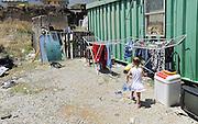 child living in a house-container of the Municipality of Palermo  since seven years, after her family was evicted from  home.<br /> Palermo, una bambina vive da circa sette anni in un campo containers del comune, dopo che la sua famiglia ha subito uno sfratto.