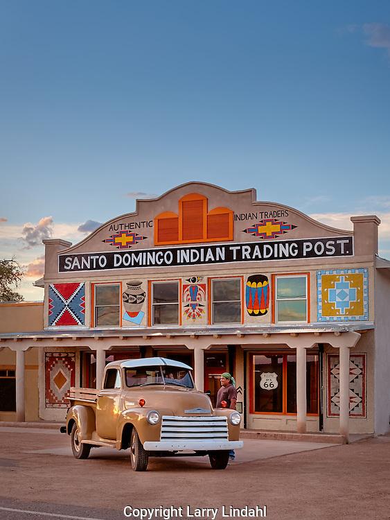 Santo Domingo trading post, Kewa Pueblo, New Mexico, Route 66,  left to right: Dawn Aley, Miguel Valdivia, and Patrick Bailon.