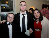 James O'Connell, Joe Ward Tuam and Tracy Ward St Joseph's at the Ability West Best Buddy Ball and award night at the Menlo Park Hotel Galway. Photo:Andrew Downes.