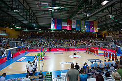 View on the court before friendly match between National teams of Slovenia and Montenegro for Eurobasket 2013 on August 23, 2013 in Arena Bonifika, Koper, Slovenia. (Photo by Matic Klansek Velej / Sportida.com)