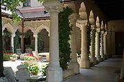 Interior of the Stavropoleos Monastery (aka Stavropoleos Church) in Bucharest, Romania