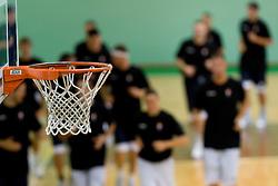 Basket at practice session of Slovenia basketball team on media day on July 16, 2010 at Rogla sports center, Slovenia. (Photo by Vid Ponikvar / Sportida)