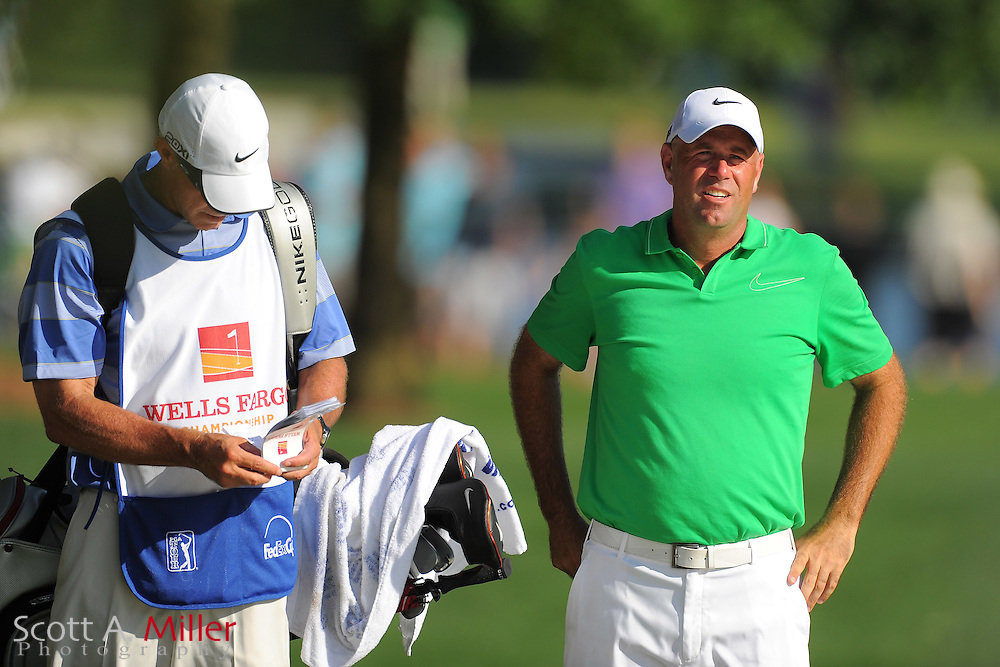 Stewart Cink during the third round of the Wells Fargo Championship at the Quail Hollow Club on May 5, 2012 in Charlotte, N.C. ..©2012 Scott A. Miller.
