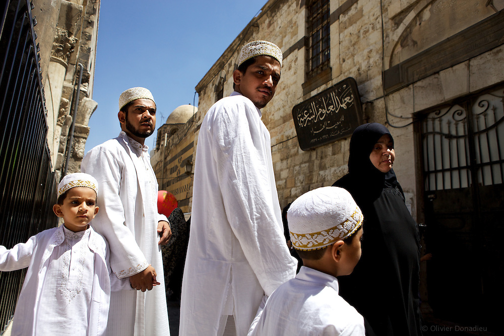 Pilgrims from Sudan in Damascus, Syria. Pèlerins soudanais a Damas, Syrie