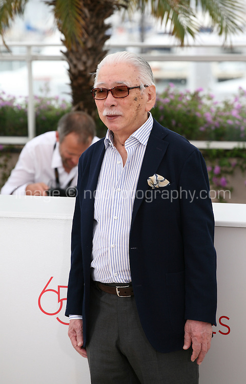 Actor, Tadashi Okuno, at the Like Someone In Love film photocall at the 65th Cannes Film Festival France. Monday 21st May 2012 in Cannes Film Festival, France.