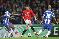 20090415: PORTO, PORTUGAL - FC Porto vs Manchester United: Champions League 2008/2009 Ð Quarter Finals Ð 2nd leg. In picture: Cristiano Ronaldo, Cissokho (L) and Raul Meireles. PHOTO: Ricardo Estudante/CITYFILES