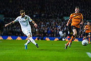 Leeds United midfielder Mateusz Klich (43) passes the ball during the EFL Sky Bet Championship match between Leeds United and Hull City at Elland Road, Leeds, England on 10 December 2019.