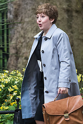 Downing Street, London, May 10th 2016. Leader of the House of Lords, Baroness Tina Stowell arrives at the weekly cabinet meeting in Downing Street.