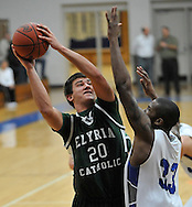 The Elyria Catholic boys varsity basketball team at Midview on January 24, 2012.