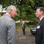 Prince of Wales, Prince Charles visits the Lime Centre, Charlestown, Fife. Lord Charles Bruce bids HRH adieu. 08 Sep 2017. Charlestown. Credit: Photo by Tina Norris. Copyright photograph by Tina Norris. Not to be archived and reproduced without prior permission and payment. Contact Tina on 07775 593 830 info@tinanorris.co.uk  <br /> www.tinanorris.co.uk