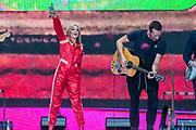 Kylie plays the Pyramid Stage to a small, reflective but generally appreciative crowd - The 2019 Glastonbury Festival, Worthy Farm, Glastonbury.