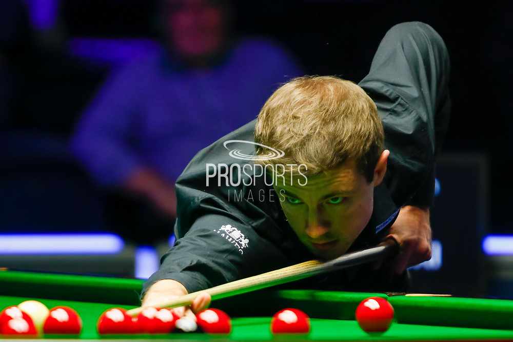Action the 2nd of the Semi Final match Mark Allen vs Jack Lisowski during the 19.com Home Nations Scottish Open at the Emirates Arena, Glasgow, Scotland on 14 December 2019.