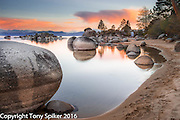 """Speedboat Beach Sunset 9"" - A landscape photograph of Lake Tahoe taken at Speedboat Beach"