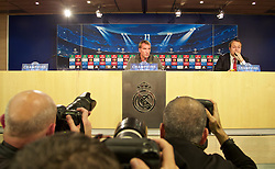 MADRID, SPAIN - Monday, November 3, 2014: Liverpool's manager Brendan Rodgers during a press conference at the Estadio Santiago Bernabeu ahead of the UEFA Champions League Group B match against  Real Madrid CF. (Pic by David Rawcliffe/Propaganda)