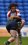 2005/06 Guinness Premiership Rugby, Vaughan Going tackles, London Irish vs Bristol Rugby;  Madejski Stadium, Reading, ENGLAND 24.09.2005   © Peter Spurrier/Intersport Images - email images@intersport-images..