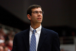 Dec 22, 2011; Stanford CA, USA;  Butler Bulldogs head coach Brad Stevens on the sidelines against the Stanford Cardinal during the second half at Maples Pavilion. Butler defeated Stanford 71-66. Mandatory Credit: Jason O. Watson-US PRESSWIRE