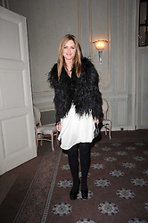 TRINNY WOODALL at a party to celebrate Penguin's reissue of Nancy Mitford's 'Wigs on The Green' hosted by Tatler at Claridge's, Brook Street, London on 10th March 2010.