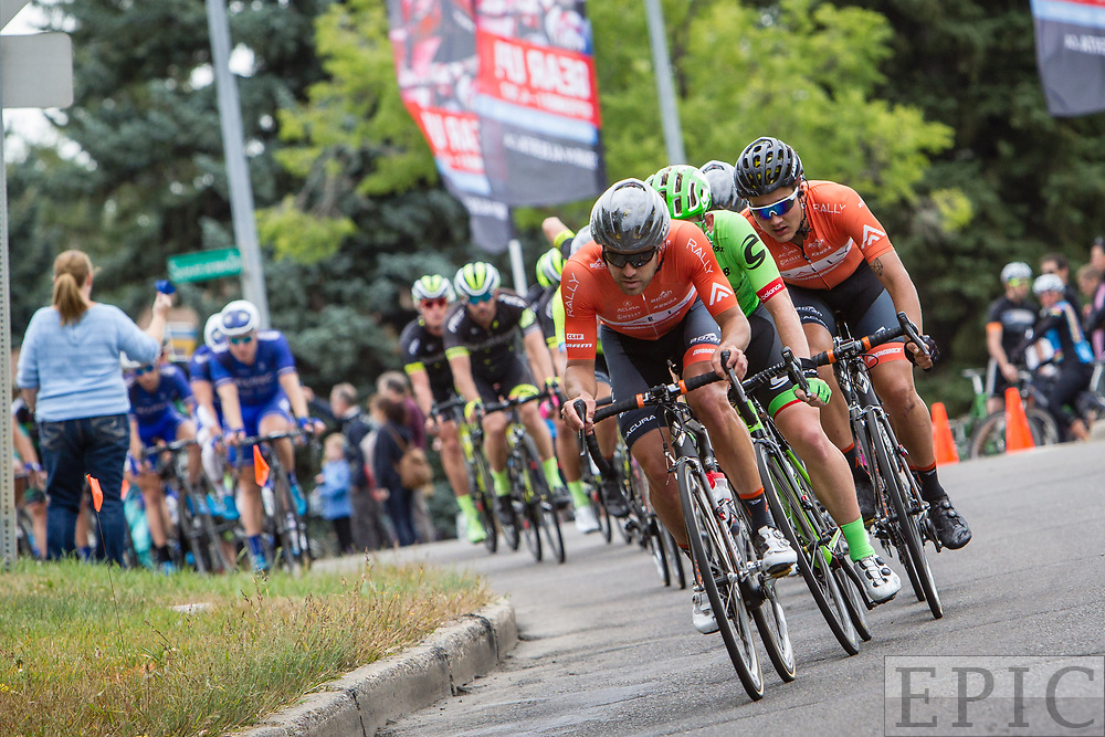 EDMONTON, ALBERTA, CAN - September 3: Jesse Anthony (Rally Cycling) leads the chase on the front of the field during stage 3 of the Tour of Alberta on September 3, 2017 in Edmonton, Canada. (Photo by Jonathan Devich)
