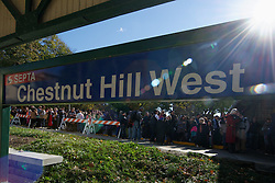 At Hogsmeade Station (formally know as Chestnut Hill West), hundreds wait to welcome Harry Potter Characters traveling on board of the Hogwarts Express towards the sixth Annual Harry Potter Festival in Chestnut Hill. (Bastiaan Slabbers/for PhillyVoice)