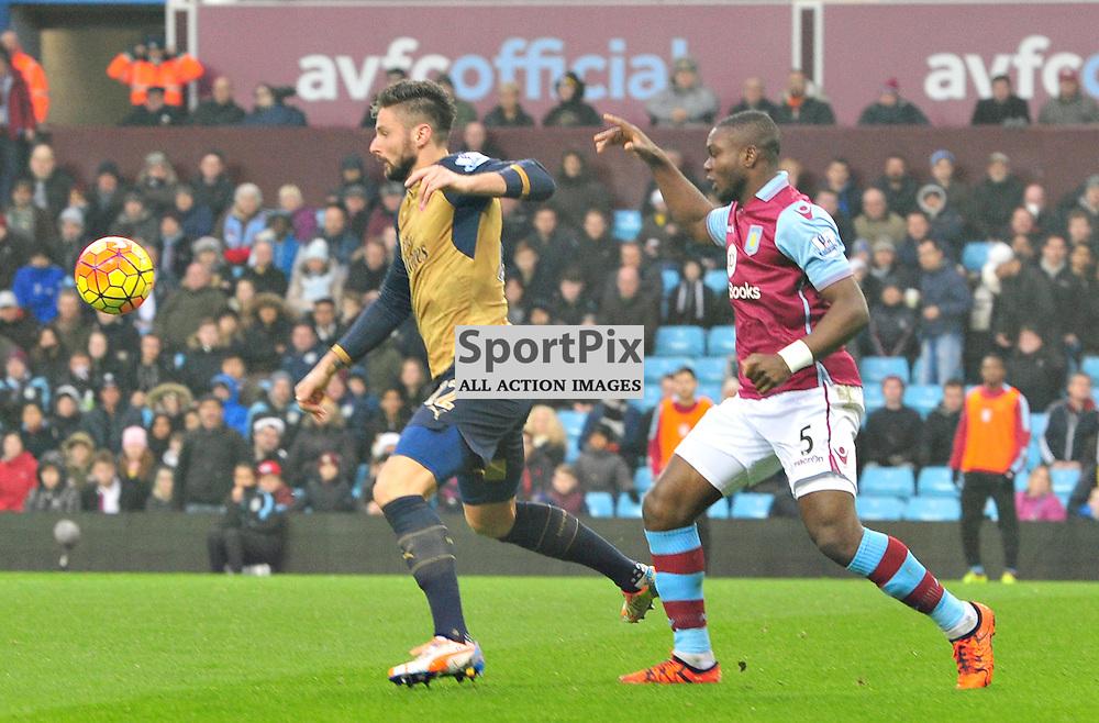 Arsenal's Oliver Giroud in action at Villa Park......(c) BILLY WHITE | SportPix.org.uk