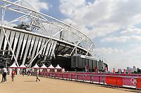 STRATFORD - AUGUST 09: Olympic Park, Stratford, London, UK. August 09, 2012. (Photo by Richard Goldschmidt)