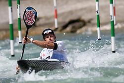 Dariusz POPIELA of Poland during the Kayak Single (MK1) Mens Semi Final race of 2019 ICF Canoe Slalom World Cup 4, on June 30, 2019 in Tacen, Ljubljana, Slovenia. Photo by Sasa Pahic Szabo / Sportida