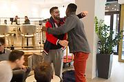 Gennaro Bucarelli, David Okeke<br /> Nazionale Italiana Maschile Senior - Premiazione Nazionale U19<br /> FIP 2017<br /> Torino, 21/11/2017<br /> Foto M. Brondi / Ciamillo-Castoria