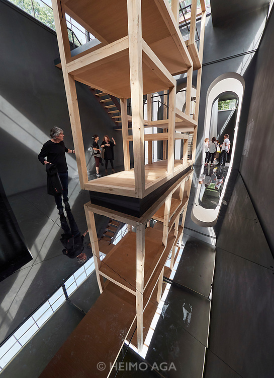 """FREESPACE - 16th Venice Architecture Biennale. Austria, """"Thoughts Form Matter"""". Henke Schreieck, """"Layers of Atmosphere""""."""