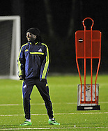 Marvin Emnes of Swansea city at Swansea city FC team training in Landore, Swansea, South Wales on Wed 19th Feb 2014. the team are training ahead of tomorrow's UEFA Europa league match against Napoli.<br /> pic by Phil Rees, Andrew Orchard sports photography.
