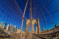 Brooklyn Bridge, New York, New York USA.